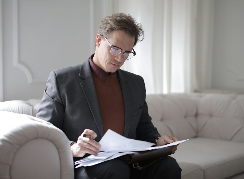 divorce lawyer in Sydney going through some papers
