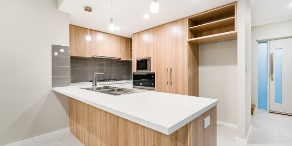 Modern Australian Home Kitchen Made From Bamboo Products