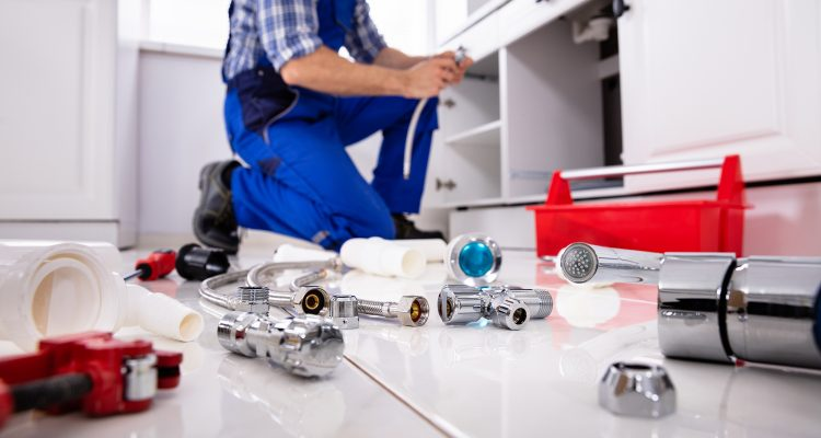Plumber In Upper Hutt And His Tools On The Floor