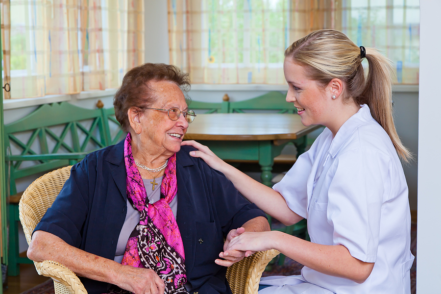Elderly woman asking for aged care financial advice